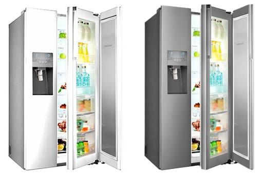 به تعداد درب های یخچال توجه کنید.